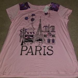 Brand New w/tag Girls Justice Tee size 16